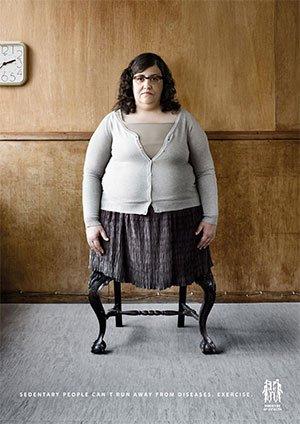 Imagen de campaña contra el sedentarismo