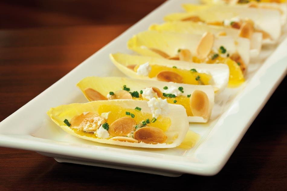 ensalada de endivias con naranja
