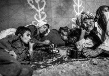 Majid Saeedi Familia Afganistán Blanco y Negro