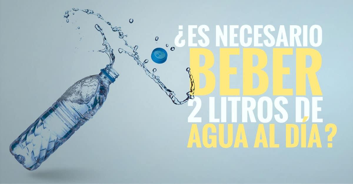 cuánta agua hay que beber al día